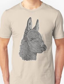 Cute donkey pencil drawing monochrome realist art  Unisex T-Shirt
