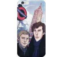 Sherlock and John in London iPhone Case/Skin