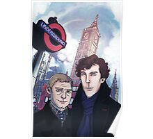 Sherlock and John in London Poster