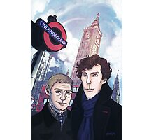 Sherlock and John in London Photographic Print