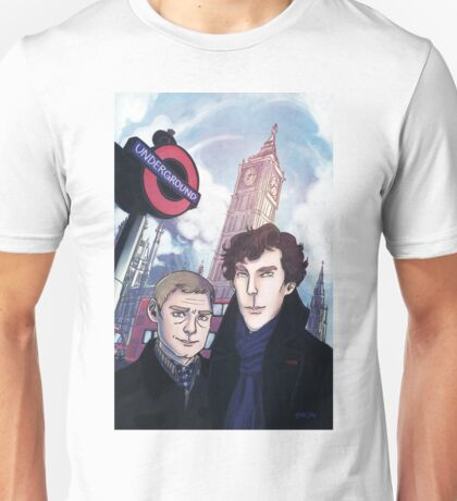 Sherlock and John in London Unisex T-Shirt