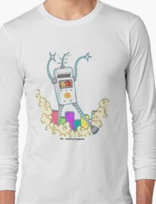 Be Careful. Colourful Robots! Long Sleeve T-Shirt