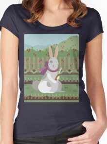 rabbit with a carrot Women's Fitted Scoop T-Shirt