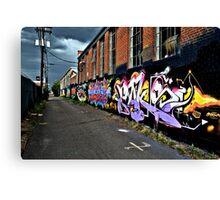 Graffiti in Denver Canvas Print
