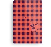 Almost a lumberjack pattern Metal Print