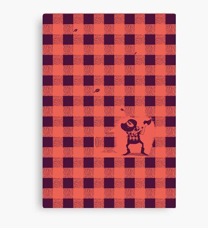 Almost a lumberjack pattern Canvas Print