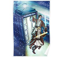 Sherlock and John - Jedi in the Tardis Poster