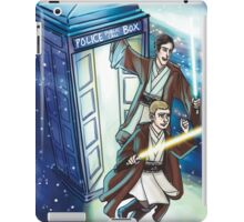 Sherlock and John - Jedi in the Tardis iPad Case/Skin