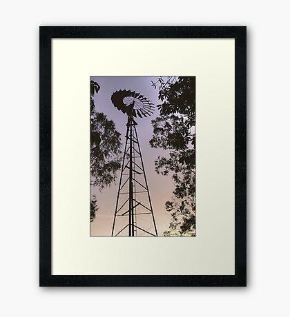 Windmill sunset HDR Framed Print