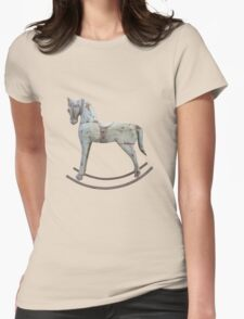 Vintage rocking horse Womens Fitted T-Shirt
