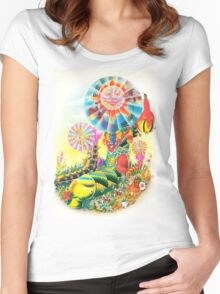 Psychedelic Caterpillar  Women's Fitted Scoop T-Shirt