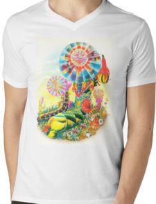 Psychedelic Caterpillar  Mens V-Neck T-Shirt