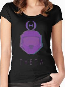 Red Versus Blue   Project Freelancer: Theta Women's Fitted Scoop T-Shirt