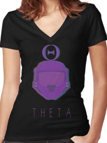 Red Versus Blue | Project Freelancer: Theta Women's Fitted V-Neck T-Shirt