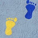 Footprints on a Wall by kinz4photo