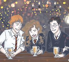Harry Potter - The Golden Trio by enerjax