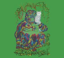 Vibrant Jungle Gorilla and Pet Cat One Piece - Short Sleeve