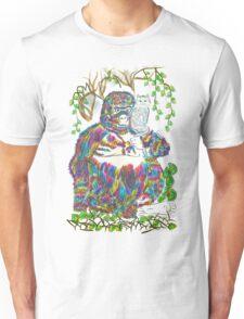 Vibrant Jungle Gorilla and Pet Cat Unisex T-Shirt