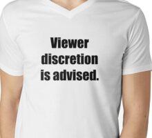 Viewer discretion is advised Mens V-Neck T-Shirt