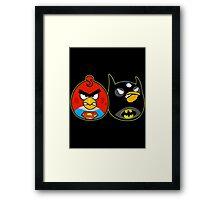 Batman vs superman angry birds Framed Print