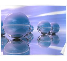 spheres in blue 01 Poster