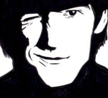 George Harrison Monochrome Illustration Sticker