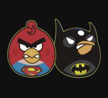 Batman vs superman angry birds by harrison90