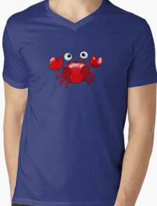 Cute red crab cartoon Mens V-Neck T-Shirt