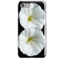 two white flowers iPhone Case/Skin