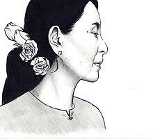 Aung San Suu Kyi Illustration by sianbrierley