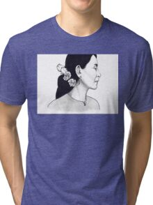 Aung San Suu Kyi Illustration Tri-blend T-Shirt