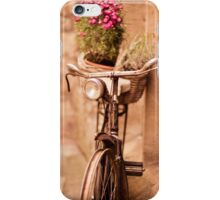 Flower bicycle @ The Vaults Cafe, Oxford iPhone Case/Skin