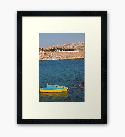 Small boat, Halki Framed Print