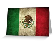 Vintage Mexican Flag Greeting Card