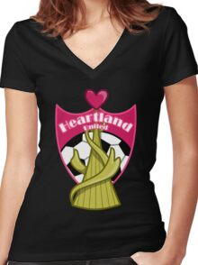 Yu-Gi-Oh! ZEXAL - Heartland United Women's Fitted V-Neck T-Shirt