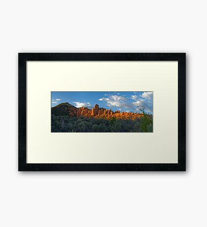 Red Canyon Panorama Framed Print
