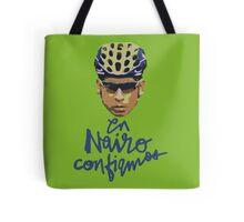 En Nairo Confiamos / In Nairo We Trust (Spanish) : Illustration on Movistar Green Tote Bag