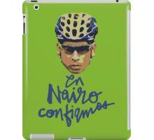 En Nairo Confiamos / In Nairo We Trust (Spanish) : Illustration on Movistar Green iPad Case/Skin