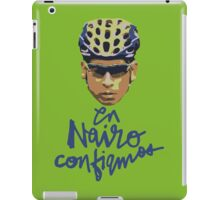 En Nairo Confiamos / In Nairo We Trust (Spanish) : Illustration on Movistar Green iPad Case/Skin