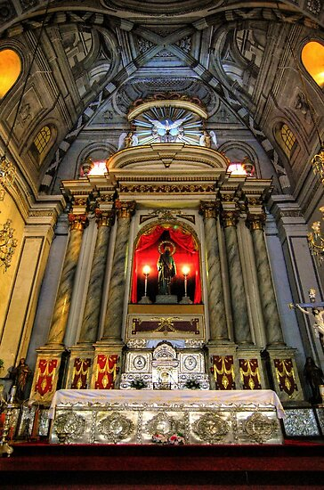San Agustin Church Altar by Yhun Suarez