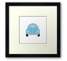 Blue Car Framed Print
