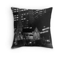 Monochrome Church Throw Pillow