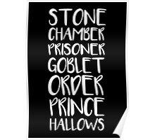 STONE/CHAMBER/PRISONER/GOBLET/ORDER/PRINCE/HALLOWS Poster