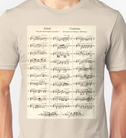 Sheet Music  Unisex T-Shirt