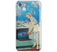 Collage of a Galactic Housewife  iPhone Case/Skin