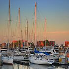 Marina sunset by Jeff Reid