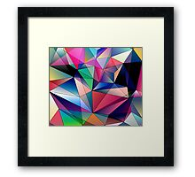 Abstract Colorful Diamonds Geometric Background Pattern Framed Print