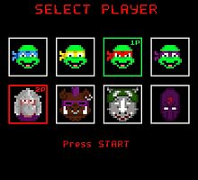 Ninja Turtles - SELECT PLAYER by prometheus31