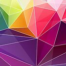 Geometric Background Abstract Colorful  Diamond Triangles Pattern by CroDesign