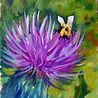 Musk Thistle Blossom by Norman Kelley